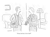 """Great, but how is he in bed?"" - New Yorker Cartoon Premium Giclee Print by Robert Mankoff"