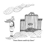 """I knew Heaven would be by Chanel."" - New Yorker Cartoon Premium Giclee Print by Victoria Roberts"