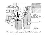 """I try to keep my coffee buzz going till the Martini buzz kicks in."" - New Yorker Cartoon Premium Giclee Print by Leo Cullum"