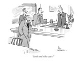 """Scotch and toilet water?"" - New Yorker Cartoon Premium Giclee Print by Leo Cullum"
