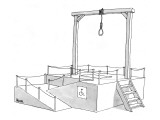 A gallows has a wheelchair ramp with a handicapped access symbol. - New Yorker Cartoon Premium Giclee Print by Jack Ziegler