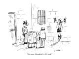 """No more 'Hardball'—I'll talk!"" - New Yorker Cartoon Premium Giclee Print by David Sipress"