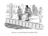 """""""Of course, on casual Fridays I'm the fifties Elvis."""" - New Yorker Cartoon Premium Giclee Print by Danny Shanahan"""