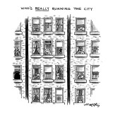 """Who's Really Running the City"" - New Yorker Cartoon Premium Giclee Print by Henry Martin"