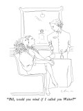 """Bill, would you mind if I called you Waiter?"" - New Yorker Cartoon Premium Giclee Print by Richard Cline"
