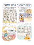 Inside One's Memory Bank' - New Yorker Cartoon Premium Giclee Print by Roz Chast