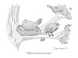 """That's not how I sat on you."" - New Yorker Cartoon Premium Giclee Print by Danny Shanahan"