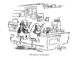 """The leftovers sound good."" - New Yorker Cartoon Premium Giclee Print by Sidney Harris"