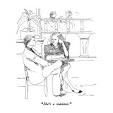 """She's a manizer."" - New Yorker Cartoon Premium Giclee Print by Richard Cline"