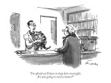 """I'm afraid we'll have to keep him overnight.  Are you going to need a loa…"" - New Yorker Cartoon Premium Giclee Print by Mike Twohy"