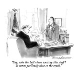 """Say, who the hell's been writing this stuff?  It comes perilously close t…"" - New Yorker Cartoon Premium Giclee Print by Bernard Schoenbaum"