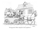 """String quartets! Minor rhapsodies! Little symphonies!"" - New Yorker Cartoon Premium Giclee Print by Jack Ziegler"