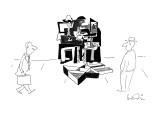 Picasso musicians on street corner. - New Yorker Cartoon Premium Giclee Print by Arnie Levin