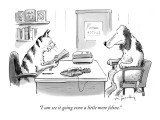 """""""I can see it going even a little more feline."""" - New Yorker Cartoon Premium Giclee Print by Mike Twohy"""