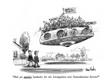 """""""And yet another headache for the Immigration and Naturalization Service!"""" - New Yorker Cartoon Premium Giclee Print by Dana Fradon"""