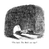 """I'm back.  The Brie's not ripe."" - New Yorker Cartoon Premium Giclee Print by Robert Weber"