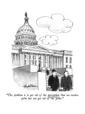 """The problem is to get rid of the perception that we receive perks but not…"" - New Yorker Cartoon Premium Giclee Print by J.B. Handelsman"