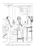 """Sometimes I sell puts.  Other times I sell calls.  It's a full life."" - New Yorker Cartoon Premium Giclee Print by Richard Cline"