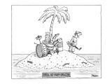 Hell On Trio Island - New Yorker Cartoon Premium Giclee Print by Jack Ziegler