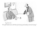 """It's a full-bodied wine with hints of acrimony, partisanship, and moral o…"" - New Yorker Cartoon Premium Giclee Print by Leo Cullum"