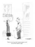 """""""I had it cut so I can style it professionally at work and still look stup…"""" - New Yorker Cartoon Premium Giclee Print by Pat Byrnes"""