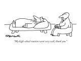 """My high-school reunion went very well, thank you."" - New Yorker Cartoon Premium Giclee Print by Charles Barsotti"