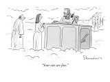 &quot;Your cats are fine.&quot; - New Yorker Cartoon Premium Giclee Print by Danny Shanahan