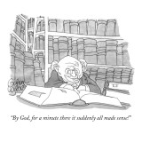 """By God, for a minute there it suddenly all made sense!"" - New Yorker Cartoon Premium Giclee Print by Gahan Wilson"