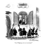 """Can Wolfgang come out and play?"" - New Yorker Cartoon Premium Giclee Print by Mort Gerberg"