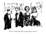 """Uh-oh.  I think they're having a Bryn Mawr moment."" - New Yorker Cartoon Premium Giclee Print by Michael Crawford"