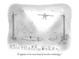 """It appears to be some kind of wireless technology."" - New Yorker Cartoon Premium Giclee Print by Arnie Levin"