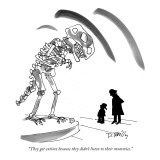 """They got extinct because they didn't listen to their mommies."" - New Yorker Cartoon Premium Giclee Print by Donald Reilly"