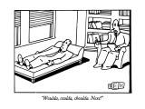 """Woulda, coulda, shoulda.  Next!"" - New Yorker Cartoon Premium Giclee Print by Bruce Eric Kaplan"