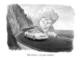 """Oh, Christ—it's your mother."" - New Yorker Cartoon Premium Giclee Print by Harry Bliss"