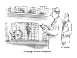 """Discouraging data on the antidepressant."" - New Yorker Cartoon Premium Giclee Print by Mike Twohy"