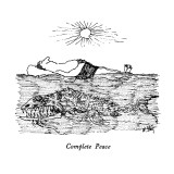 Complete Peace - New Yorker Cartoon Premium Giclee Print by William Steig