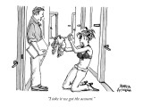 """I take it we got the account."" - New Yorker Cartoon Premium Giclee Print by Marisa Acocella Marchetto"