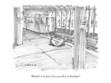"""Wouldn't it be faster if we just flew to Brooklyn?"" - New Yorker Cartoon Premium Giclee Print by Michael Crawford"