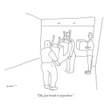 """Oh, just break it anywhere."" - New Yorker Cartoon Premium Giclee Print by Michael Shaw"