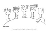"""I want to apologize for calling this meeting on such short notice."" - New Yorker Cartoon Premium Giclee Print by Charles Barsotti"