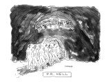 PR Hell. - New Yorker Cartoon Premium Giclee Print by Robert Mankoff