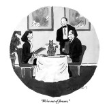 """We're out of flowers."" - New Yorker Cartoon Premium Giclee Print by Danny Shanahan"