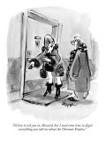 """I'd love to ask you in, Howard, but I need some time to digest everything…"" - New Yorker Cartoon Premium Giclee Print by Lee Lorenz"