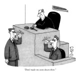 """Don't make me come down there."" - New Yorker Cartoon Premium Giclee Print by J.C. Duffy"