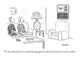 """""""It's the editorial he was fulminating against when he keeled over and cro…"""" - New Yorker Cartoon Premium Giclee Print by Robert Mankoff"""