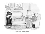 """I say 'fiesta,' you say 'siesta.'"" - New Yorker Cartoon Premium Giclee Print by Victoria Roberts"