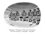 """Good game."" ""Good game."" ""Nice game."" ""Good game."" ""I'm in love with you.…"" - New Yorker Cartoon Premium Giclee Print by Harry Bliss"