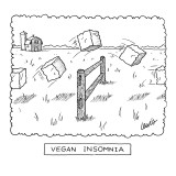 """Vegan Insomnia"" - New Yorker Cartoon Premium Giclee Print by Eric Lewis"