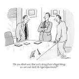 """Do you think now that we're doing fewer illegal things we can scale back …"" - New Yorker Cartoon Premium Giclee Print by Leo Cullum"