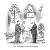 """""""Please listen carefully to the available options."""" - New Yorker Cartoon Premium Giclee Print by Frank Cotham"""